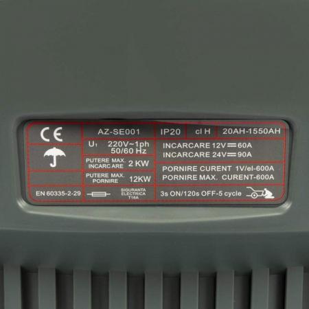 Robot pornire/Incarcator redresor baterie auto 20-1550Ah CD-630 ALMAZ AZ-SE0011