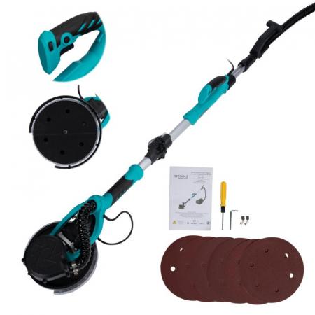 Slefuitor pentru pereti pliabil cu aspirator si LED 750W Ø225mm [12]