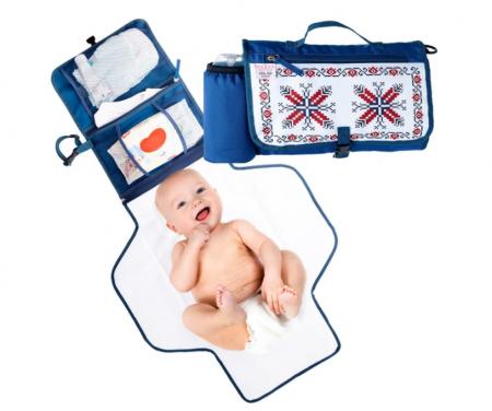 Geanta pentru infasat bebelusi, geanta organizator ideala pentru carucior-pentru schimbat scutece si infasat, cu buzunare incapatoare0