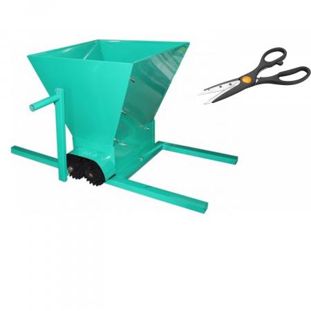 Zdrobitor de STRUGURI cu cadru metalic, volum cuva 20 L 350 kg/h + Foarfeca [0]