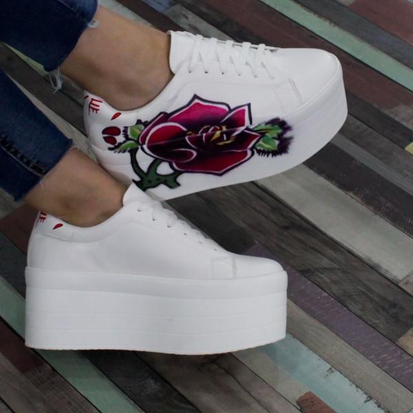 Adidasi Bellamica cu platforma 0