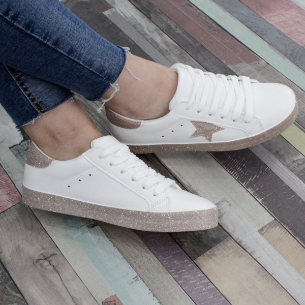 Adidasi Cardi White Silver
