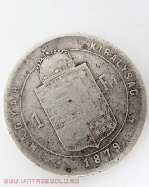 1 Forint, Ferencz Josef, Ungaria, 1879, argint 900, 12.08 grame 1