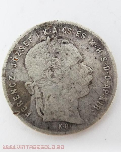 1 Forint, Ferencz Josef, Ungaria, 1879, argint 900, 12.08 grame 0