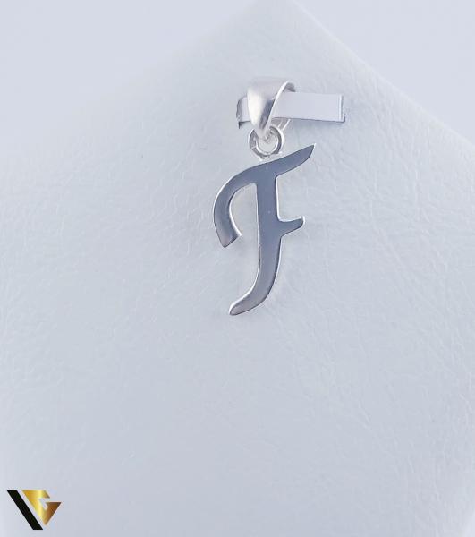 "Pandantiv Argint 925, Litera ""F"", 1.51 grame (R) 0"