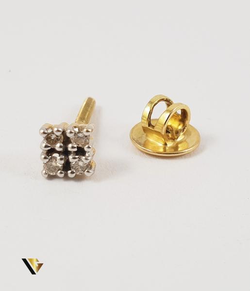 Cercel Aur 18k, Diamante de cca. 0.08 ct in total, 0.90 grame 0
