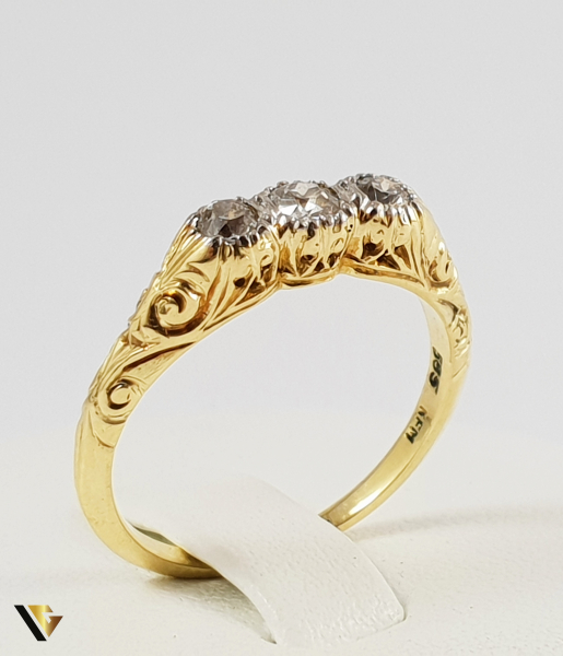 Inel Aur 14k, Diamante de cca. 0.24 ct in total, 3.00 grame 0