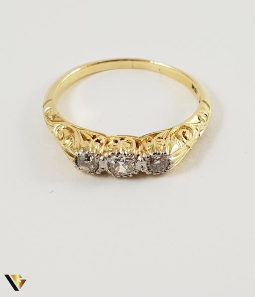 Inel Aur 14k, Diamante de cca. 0.24 ct in total, 3.00 grame 1