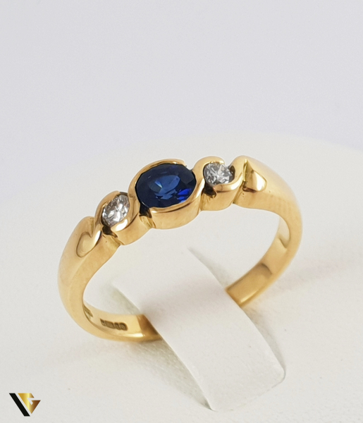 Inel Aur 18k, Diamante de cca. 0.13 ct in total, 3.84 grame (P) 0