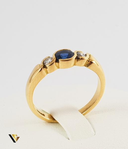 Inel Aur 18k, Diamante de cca. 0.13 ct in total, 3.84 grame (P) 1