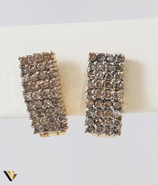 Cercei Aur 14k, Diamante de cca. 1 ct in total, 8.72 grame 0