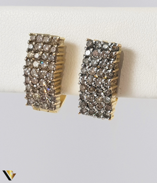 Cercei Aur 14k, Diamante de cca. 1 ct in total, 8.72 grame 1