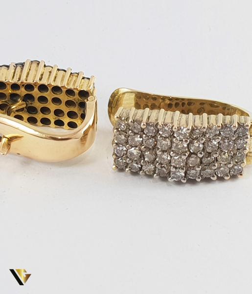 Cercei Aur 14k, Diamante de cca. 1 ct in total, 8.72 grame 2