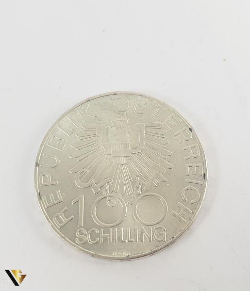 100 Schlling , Austria 1979, Argint 640, 24.08 grame 0