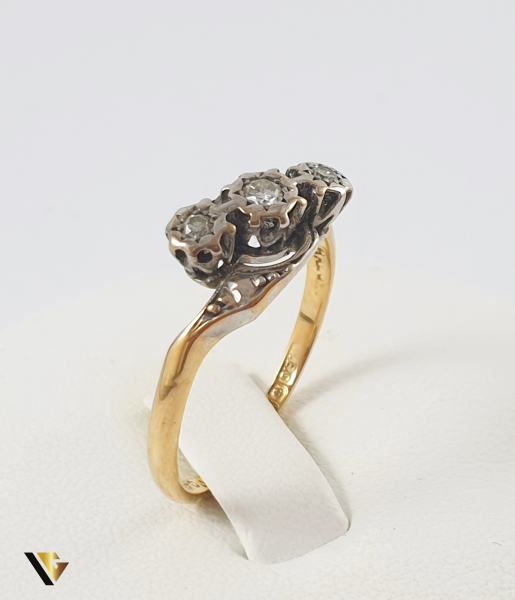 Inel Aur 18k, Diamante de cca. 0.09 ct in total, 2.85 grame 2