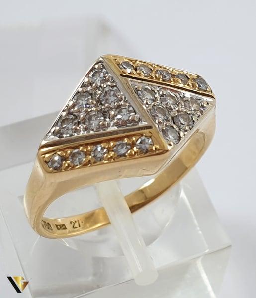 Inel Aur 18k, Diamante de cca. 0.39 ct in total, 3.72 grame 0
