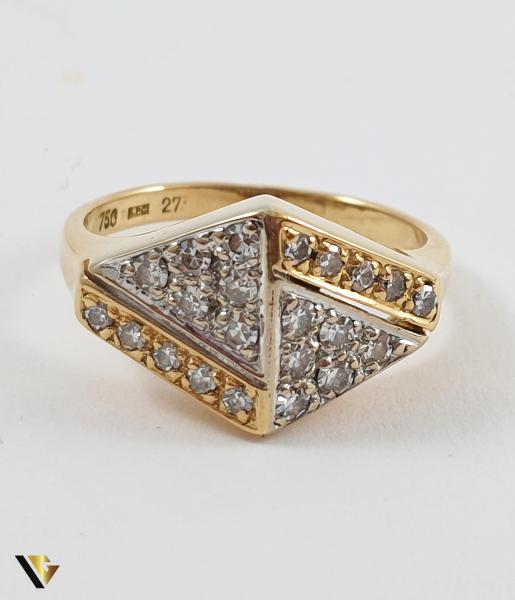 Inel Aur 18k, Diamante de cca. 0.39 ct in total, 3.72 grame (TG) 1