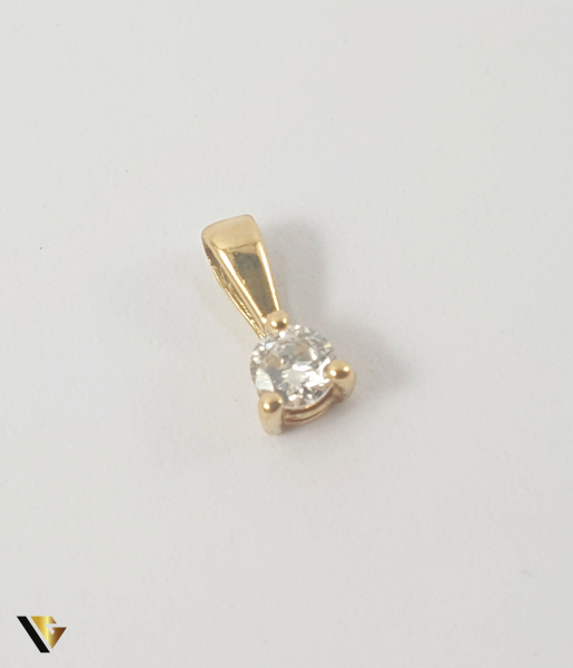 Pandant Aur 18k, Diamant de cca 0.07 ct,0.19 grame 0