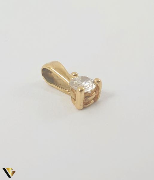 Pandant Aur 18k, Diamant de cca 0.07 ct,0.19 grame 1