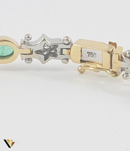 Bratara Aur 18k, Smaralde si diamante de cca. 0.30 ct in total, 16.58 grame 3