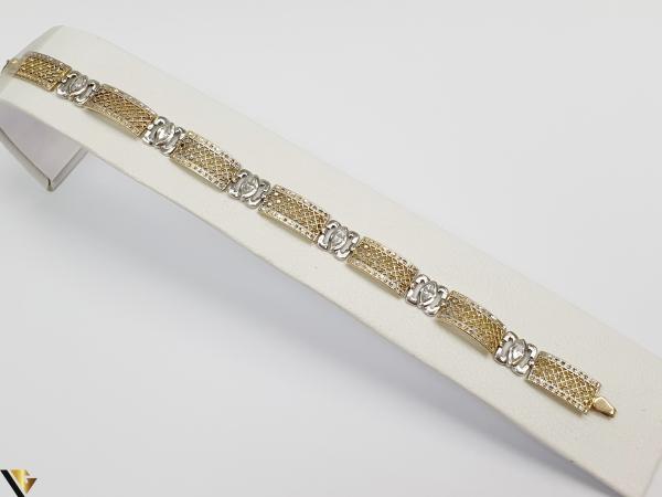 """Bratara din aur 14k, 585 10.41 grame Latime de 8.8 mm Lungime totala de 19cm Marcaj cu titlul """"585"""" Locatie HARLAU 0"""