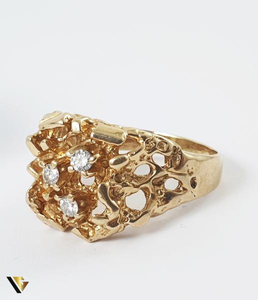 Inel Aur 14k, Diamante de cca. 0.18 ct in total, 9.48 grame 1