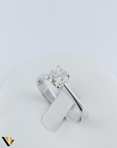 Inel logodna Aur 18k, Diamant cca. 0.70 ct, 4.04 grame 0