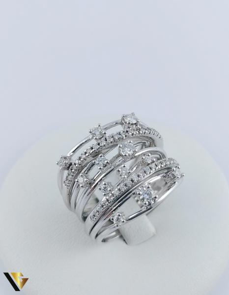 Inel Aur 18k, Diamante cca. 0.45 ct in total, 10.80 grame 0