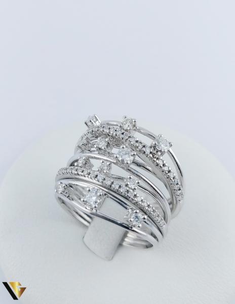 Inel Aur 18k, Diamante cca. 0.45 ct in total, 10.80 grame 1