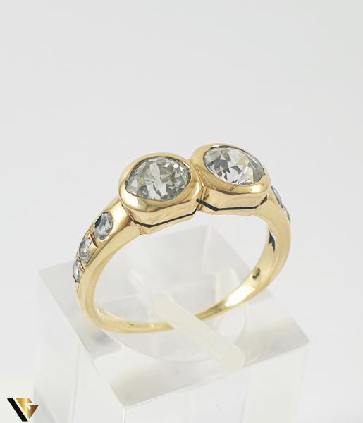 Inel Aur 14k, Diamante de cca 1.60 ct in total, 3.25 grame 0