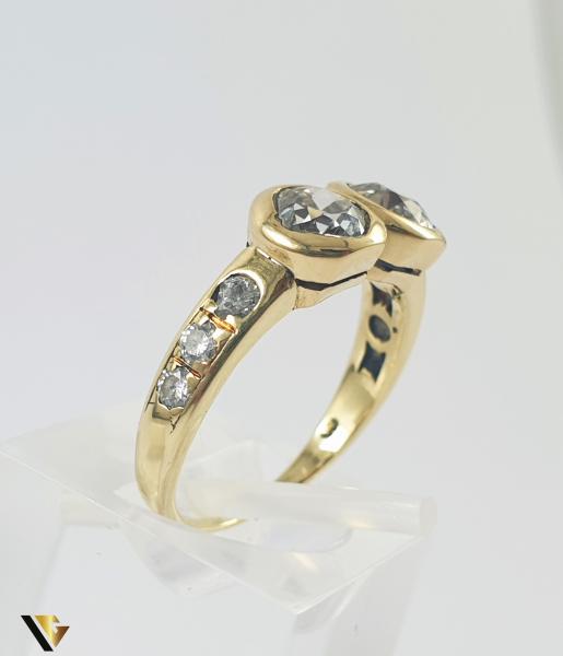 Inel Aur 14k, Diamante de cca 1.60 ct in total, 3.25 grame 1