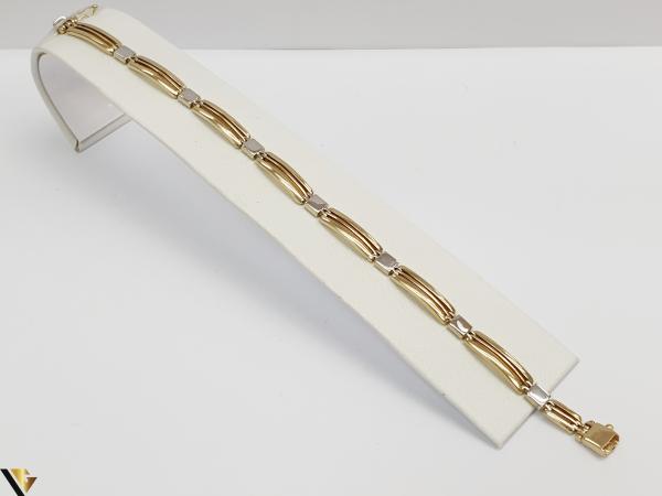 """Bratara din aur 14k, 585 12.83grame Latime de 6 mm Lungime totala de 21.5cm Marcaj cu titlul """"585"""" Locatie HARLAU 0"""