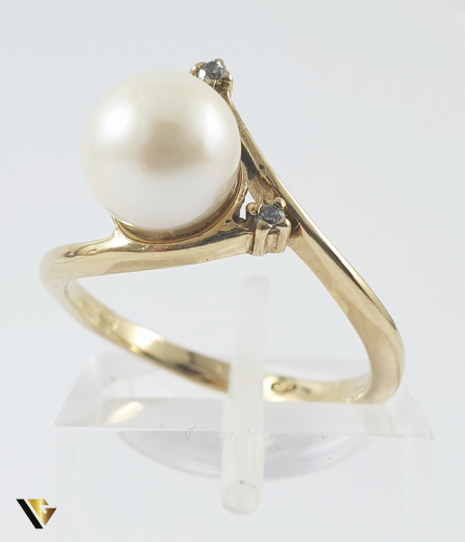 Inel Aur 14k, Perla, 2.92 grame (P) 0