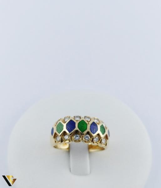 Inel Aur 18k, Diamante de cca. 0.36 ct in total, 5.05 grame 1