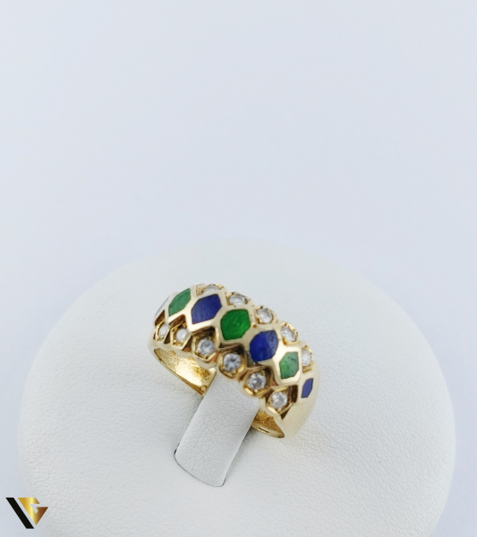 Inel Aur 18k, Diamante de cca. 0.36 ct in total, 5.05 grame 2