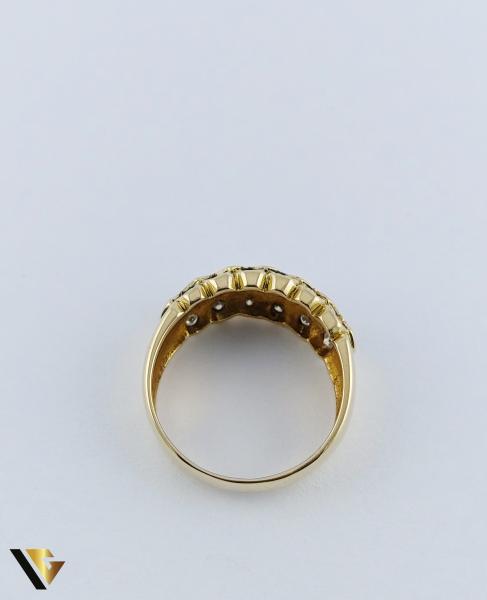 Inel Aur 18k, Diamante de cca. 0.36 ct in total, 5.05 grame 3