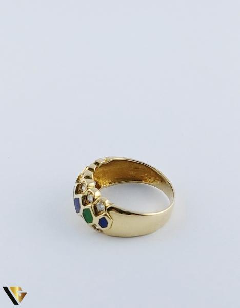 Inel Aur 18k, Diamante de cca. 0.36 ct in total, 5.05 grame 4