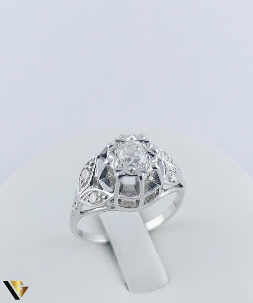 Inel Aur 10k, Diamant de cca. 0.30 ct, 3.86 grame 0