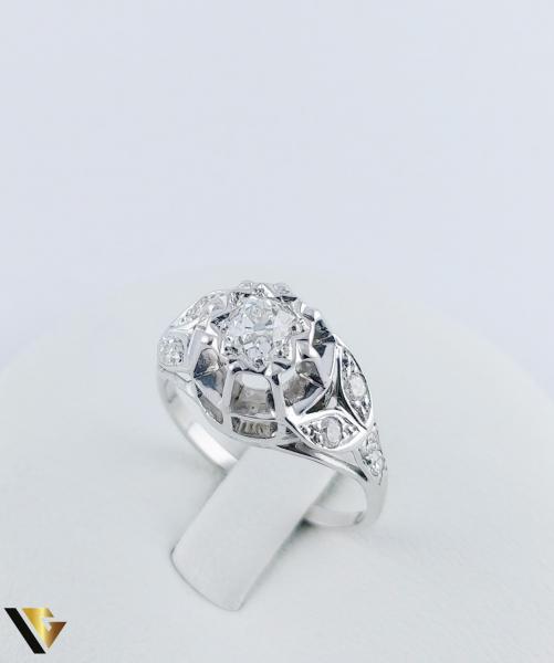 Inel Aur 10k, Diamant de cca. 0.30 ct, 3.86 grame 2