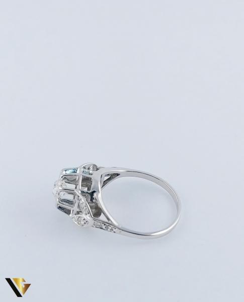 Inel Aur 10k, Diamant de cca. 0.30 ct, 3.86 grame 4