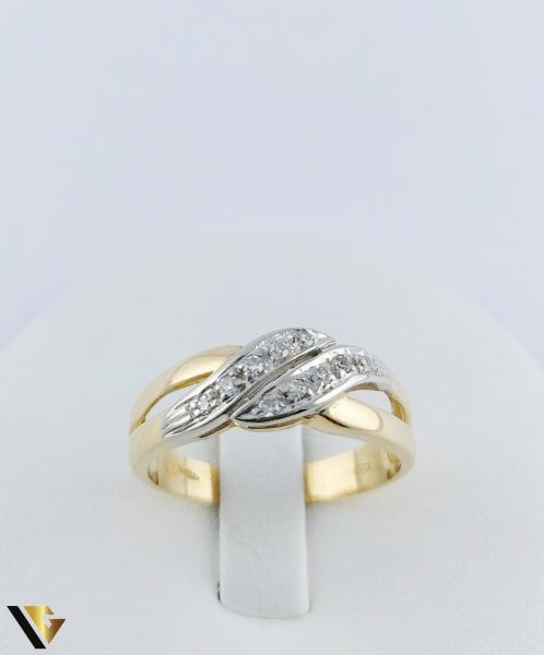 Inel Aur 18k, Diamante de cca. 0.15 ct in total, 3.64 grame 1