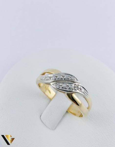 Inel Aur 18k, Diamante de cca. 0.15 ct in total, 3.64 grame 2
