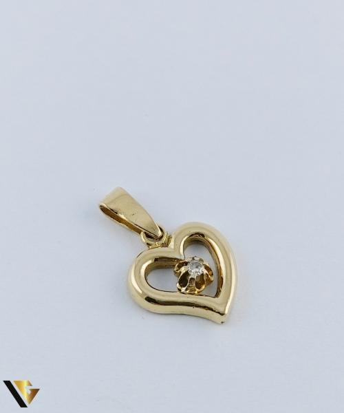 Pandantiv  Aur 18k, Diamant, Inima,  2.39 grame 0