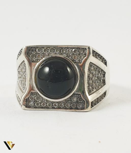 Inel Argint 925, Onix, 8.10 grame 1