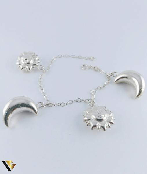 Bratara Argint 925, Luna, Soare, 12.38 grame (PD) [0]