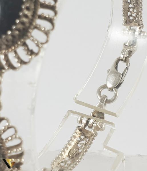 Bratara Argint 925, Onix, 12.93 grame 1