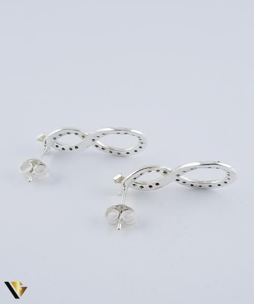 Set argint 925 format din cercei si pandantiv,  Simbolul Infinitului, 5.36 grame (R) 2