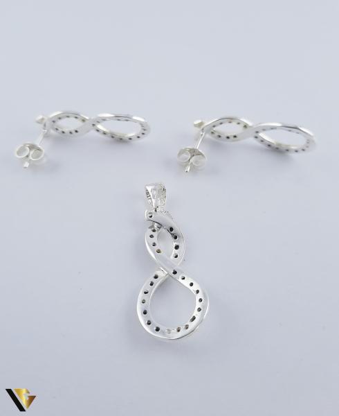 Set argint 925 format din cercei si pandantiv,  Simbolul Infinitului, 5.36 grame (R) 4