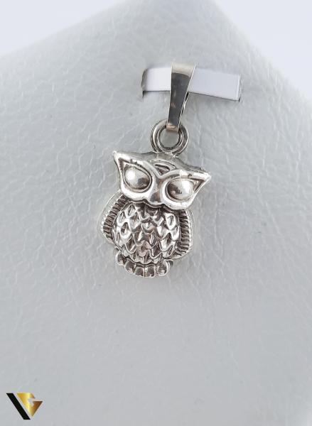 Set argint 925 format din cercei si pandantiv, Bufnita, 6.82 grame (R) 2