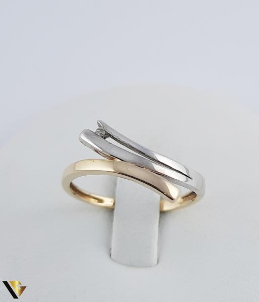 Inel Aur 18k, Diamant, 2.06 grame (R) 1